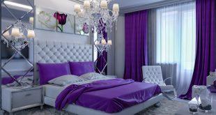 purple bedrooms elegant purple designed bedroom chandelier KEVHUFJ