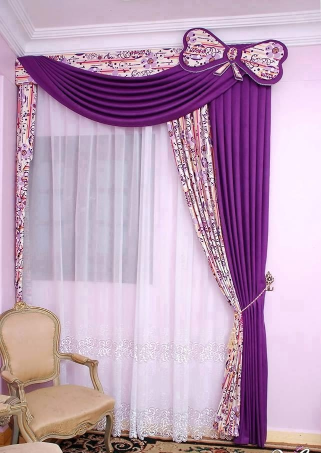 purple modern curtain designs for living room IATBNRE