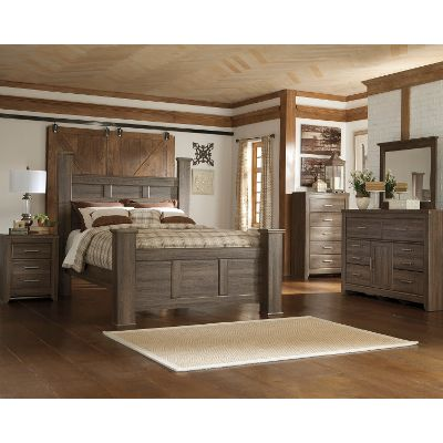 queen bedroom sets driftwood rustic modern 6 piece queen bedroom set - fairfax BANSTAA