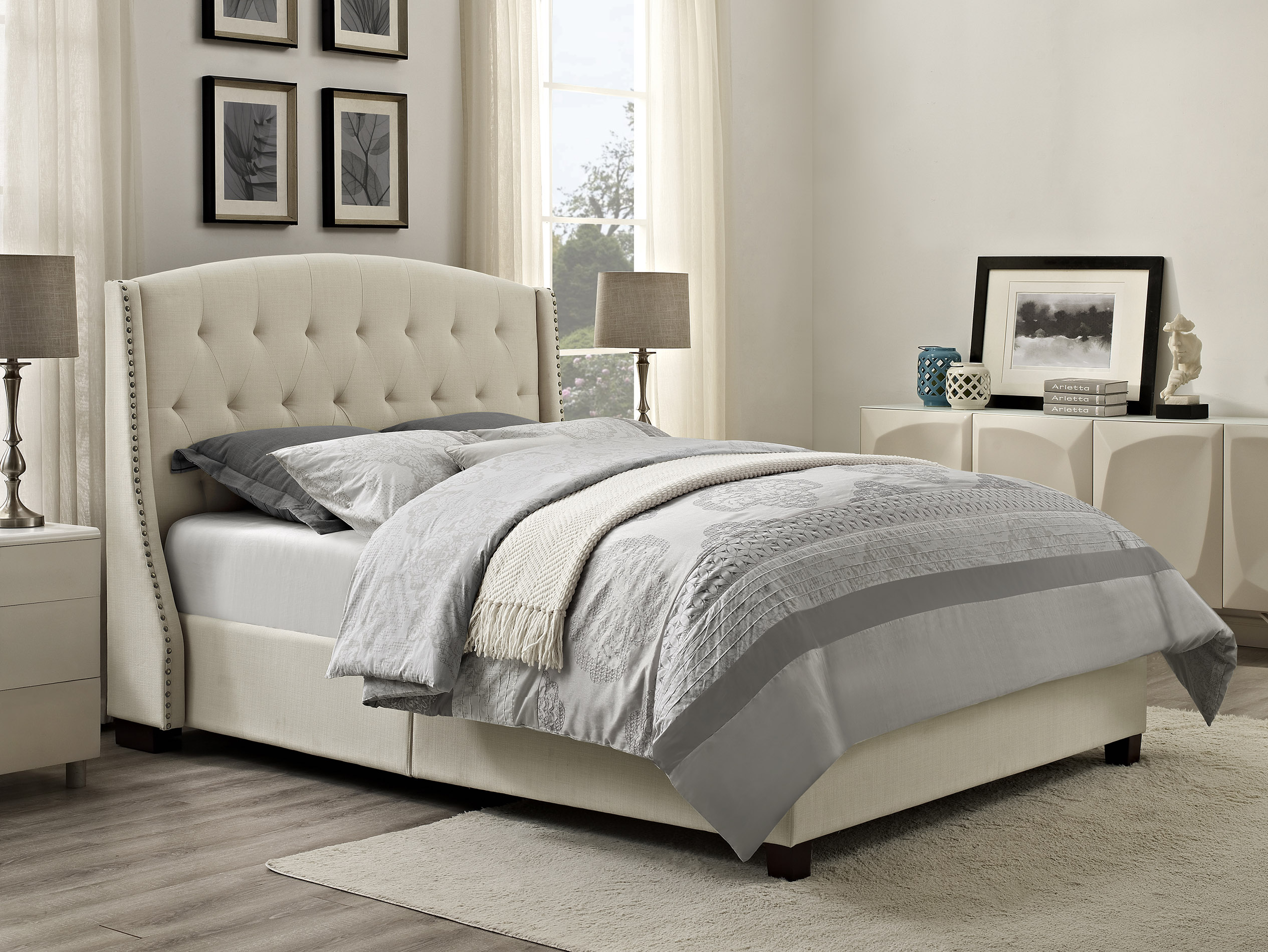 queen size bed dorel olivia upholstered bed multiple colors and sizes NZUAVDQ