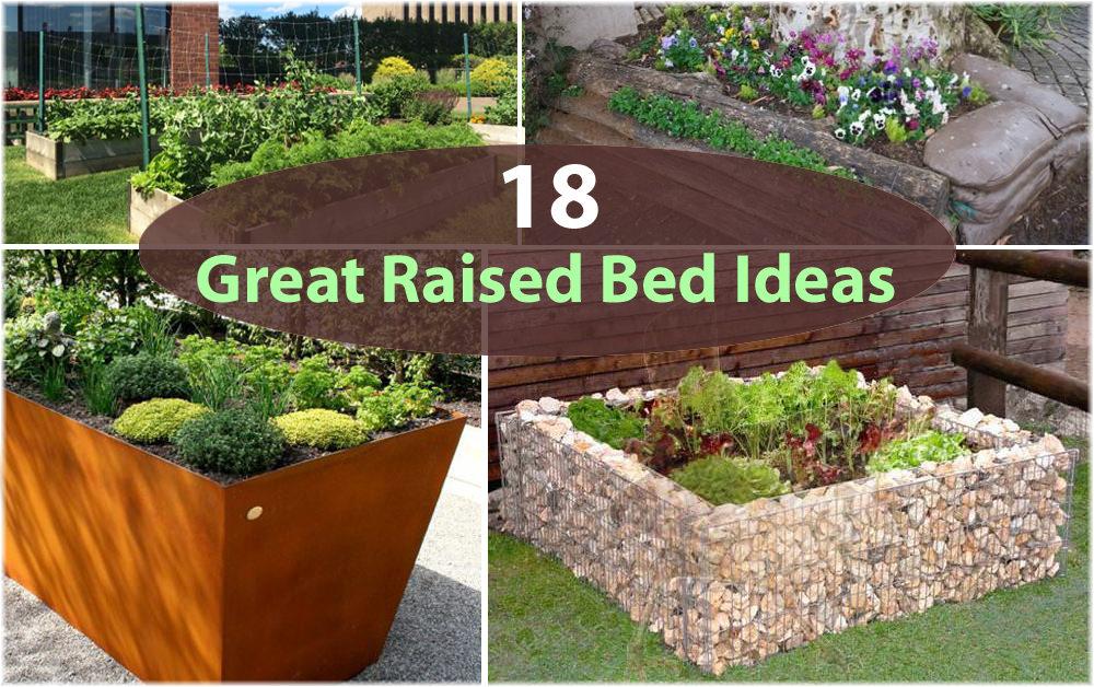 raised bed garden 18 great raised bed ideas | raised bed gardening | balcony garden web LJZHLCM