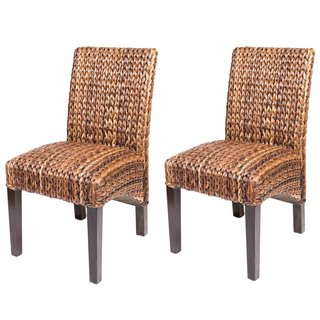 rattan dining chairs seagrass dining chair (set of 2) TBEYIDT