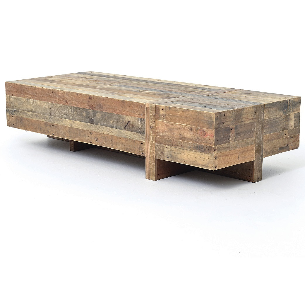 reclaimed wood coffee table angora reclaimed wood block rustic coffee table BOMUWZY