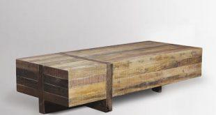 reclaimed wood coffee table ... reclaimed wood block coffee table $999 ... MIEQDUD