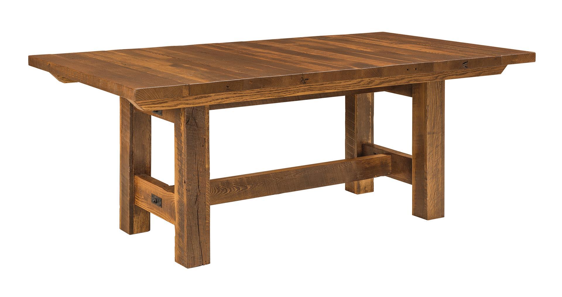 reclaimed wood lynchburg trestle table CSTMXPE