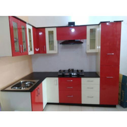 red and white modular kitchen cabinets CMCOTWO