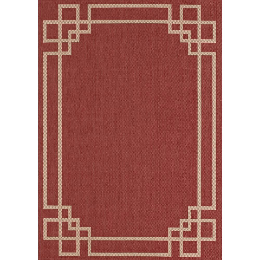 red rugs hampton bay greek key border red/tan 8 ft. x 10 ft. indoor BJSKCSK