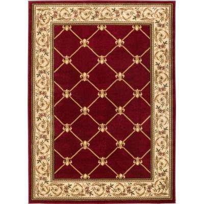 red rugs timeless fleur de lis red 10 ft. 11 in. x 15 ft. traditional UQQMWYD