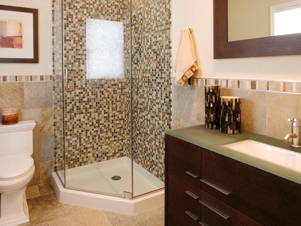 remodeling bathroom patterned tile adds visual interest to guest bath PFQUKUN