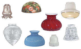 replacement glass lamp globes and antique style glass lamp shades DUJGRTZ