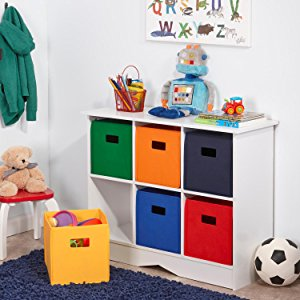 riverridge kids storage cabinet with 6 bins, white. CNPDXEZ