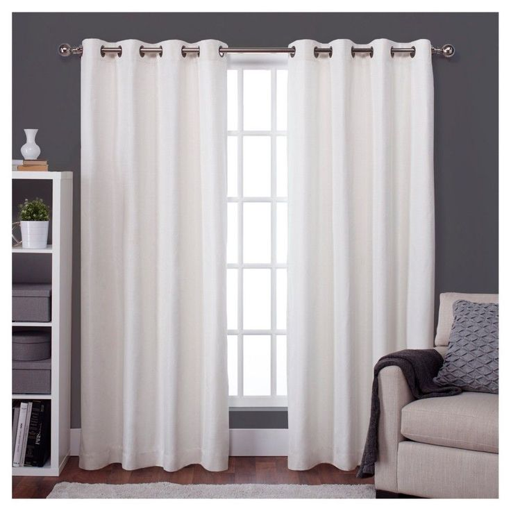 room darkening curtains raw silk thermal room darkening window curtain panel pair off - white VIJKSWG