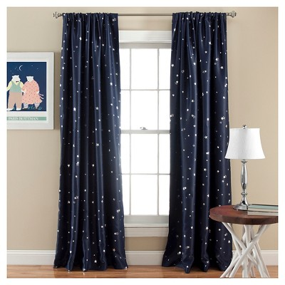 room darkening curtains star curtain panels - room darkening - set of 2 OIDLXKV