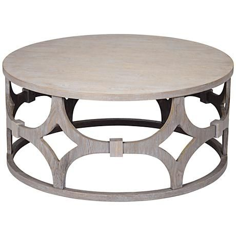 round coffee table lanini gray wash 39 1/4 PZHFDSW