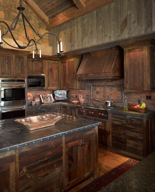 rustic kitchen wyoming getaway - eclectic - kitchen - jackson - by bruce kading interior VYRLGKE