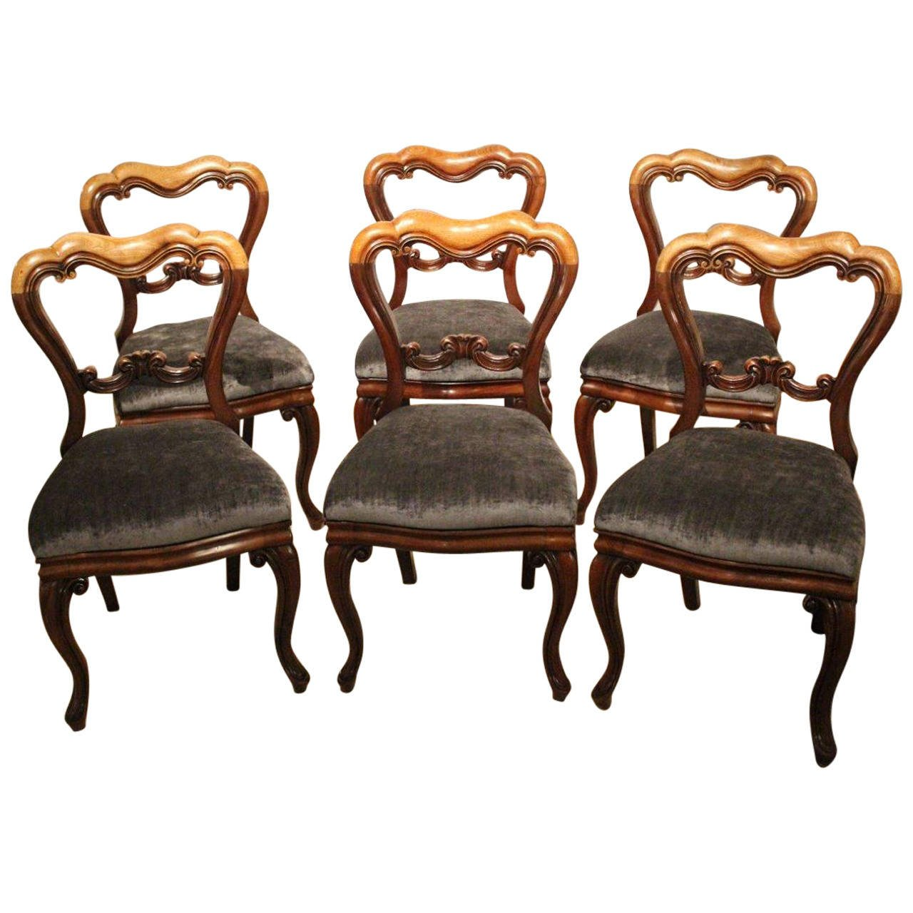 set of six mahogany victorian period antique dining chairs 1 LBCTAVV