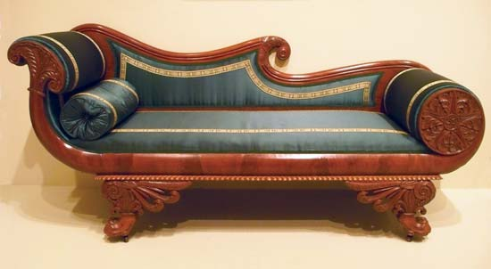 settees sofa, mahogany, maker unknown, american, about 1825-35; in the MWOYMHR