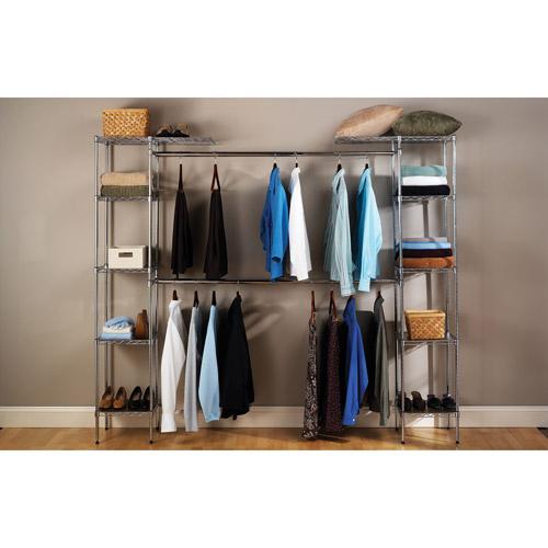seville classics ultrazinc expandable closet organizer system WINQHQI