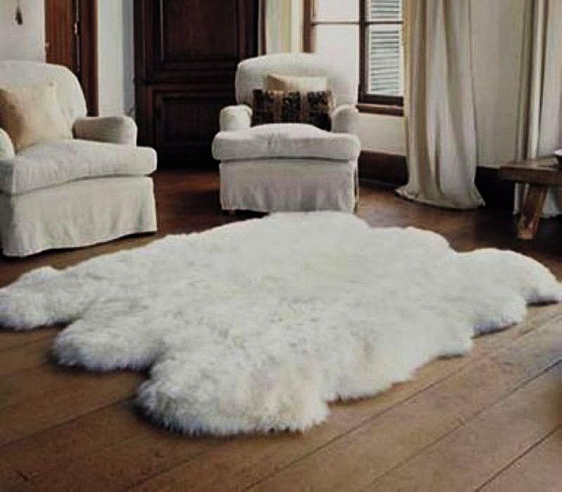 sexto sheepskin rug | 5 x 7 bowron sheepskin pelt rug VYSRENV