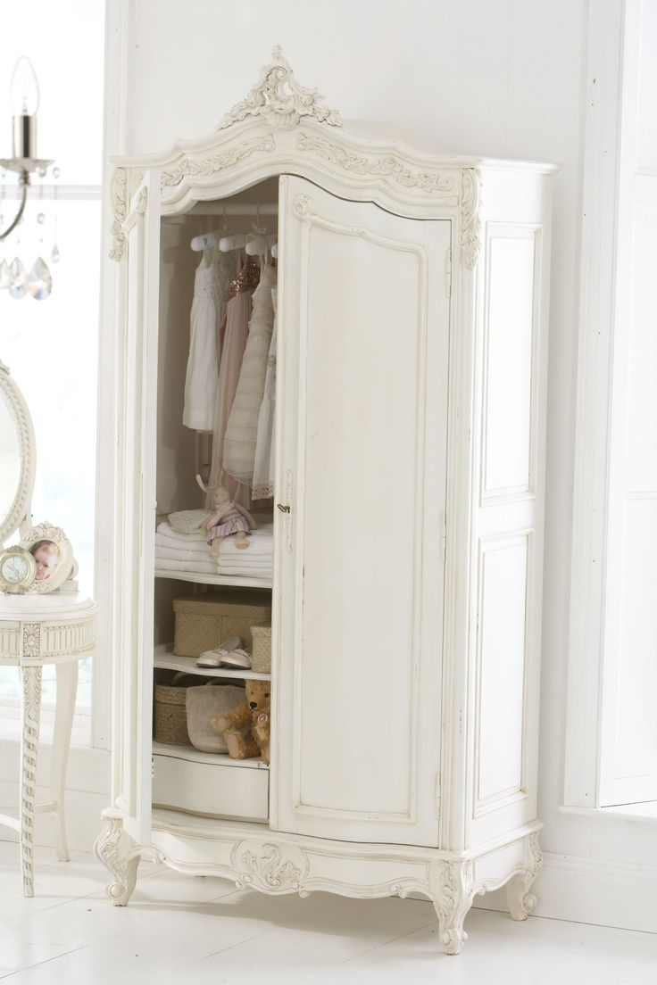 shabby chic wardrobe wardrobe ~ i would remove the doors and put a curtain in it, VRTFUKU