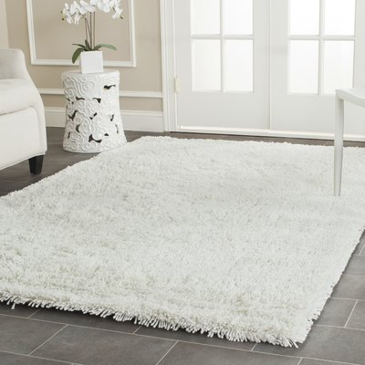 shag area rugs charlton home pierce white shag area rug u0026 reviews | wayfair MYSYEEL