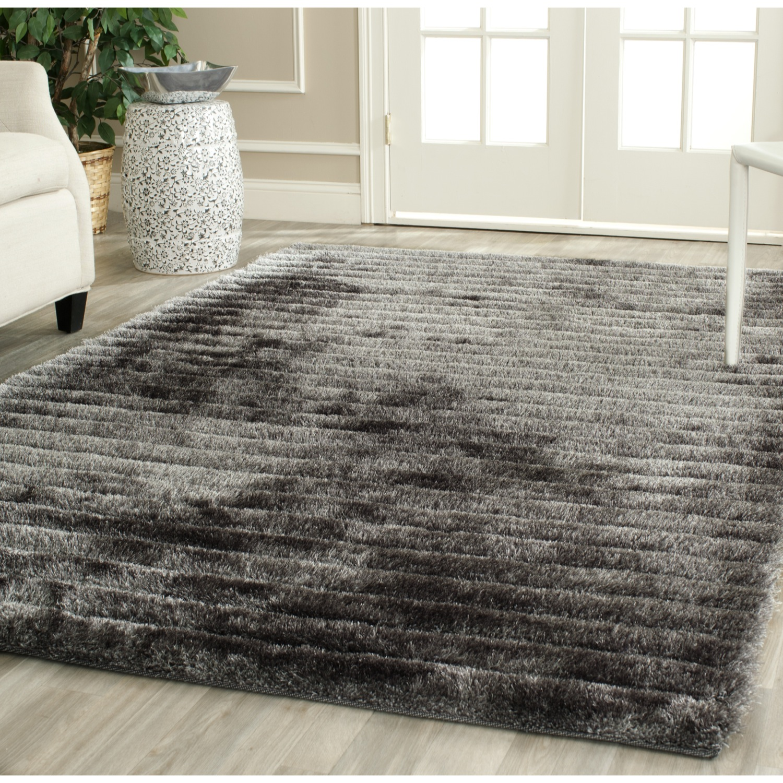 shag area rugs safavieh-hand-tufted-silver-3d-shag-area-rugs- XNHEJHV