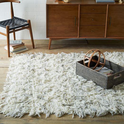 shaggy rug chevron wool shag rug SLQBNDT