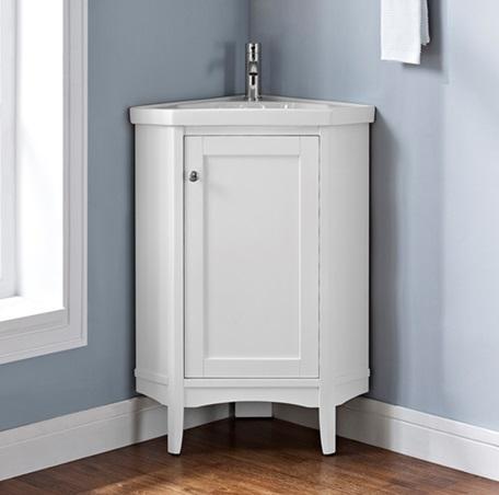 shaker americana 26u2033 corner vanity - polar white DJMDHVH