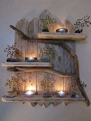shelving ideas charming natural genuine driftwood shelves solid rustic shabby chic nautical GELNCHM
