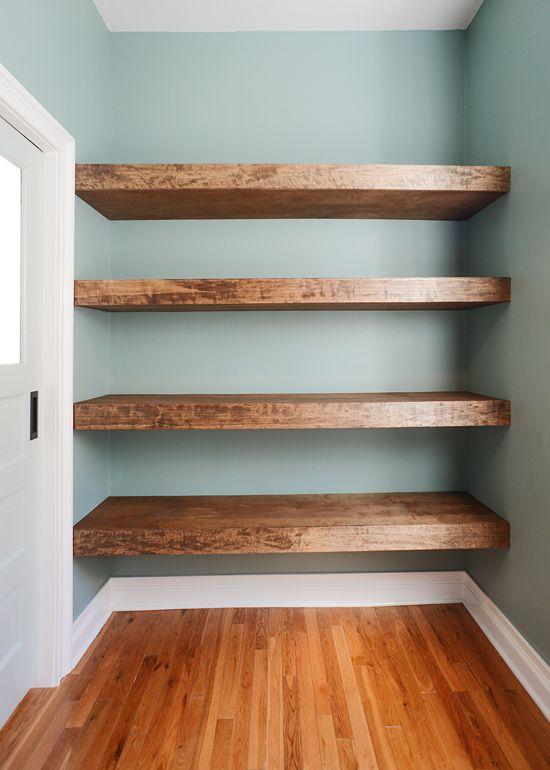 shelving ideas diy floating wood shelves! (yellow brick home) UTJEQNO