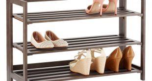 shoe racks 3-tier driftwood folding shoe rack ... KPSZJLG
