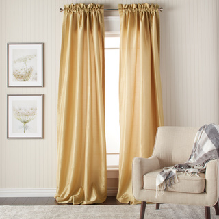 silk curtains heritage landing 84-inch faux silk lined curtain pair BSRLUQK