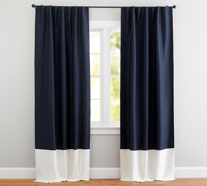 silk curtains linen silk border drape | pottery barn CRKLVVA
