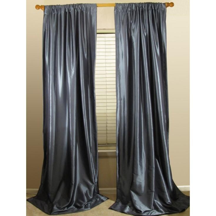 silk curtains premium faux silk drapery panels NBPPZTT