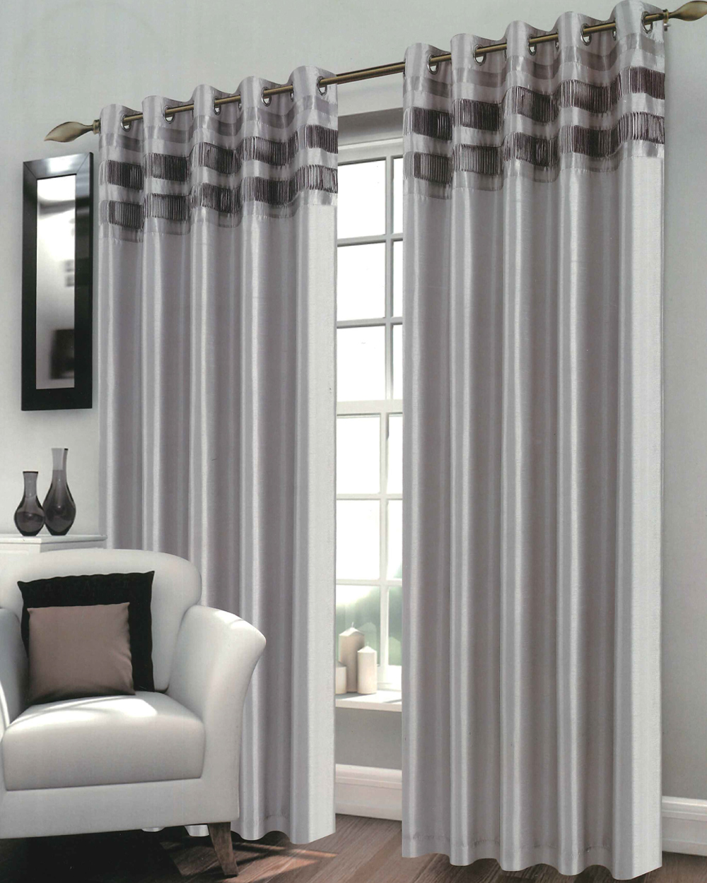silver curtains expand. bergen silver eyelet curtains JQJASFJ