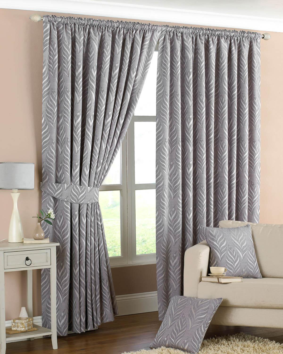 silver curtains narrow leaf ready made lined curtains ZBNAKPB