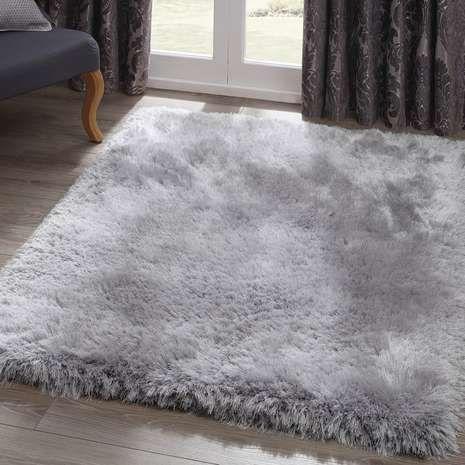 silver jewel shaggy rug | dunelm RUMJTXI