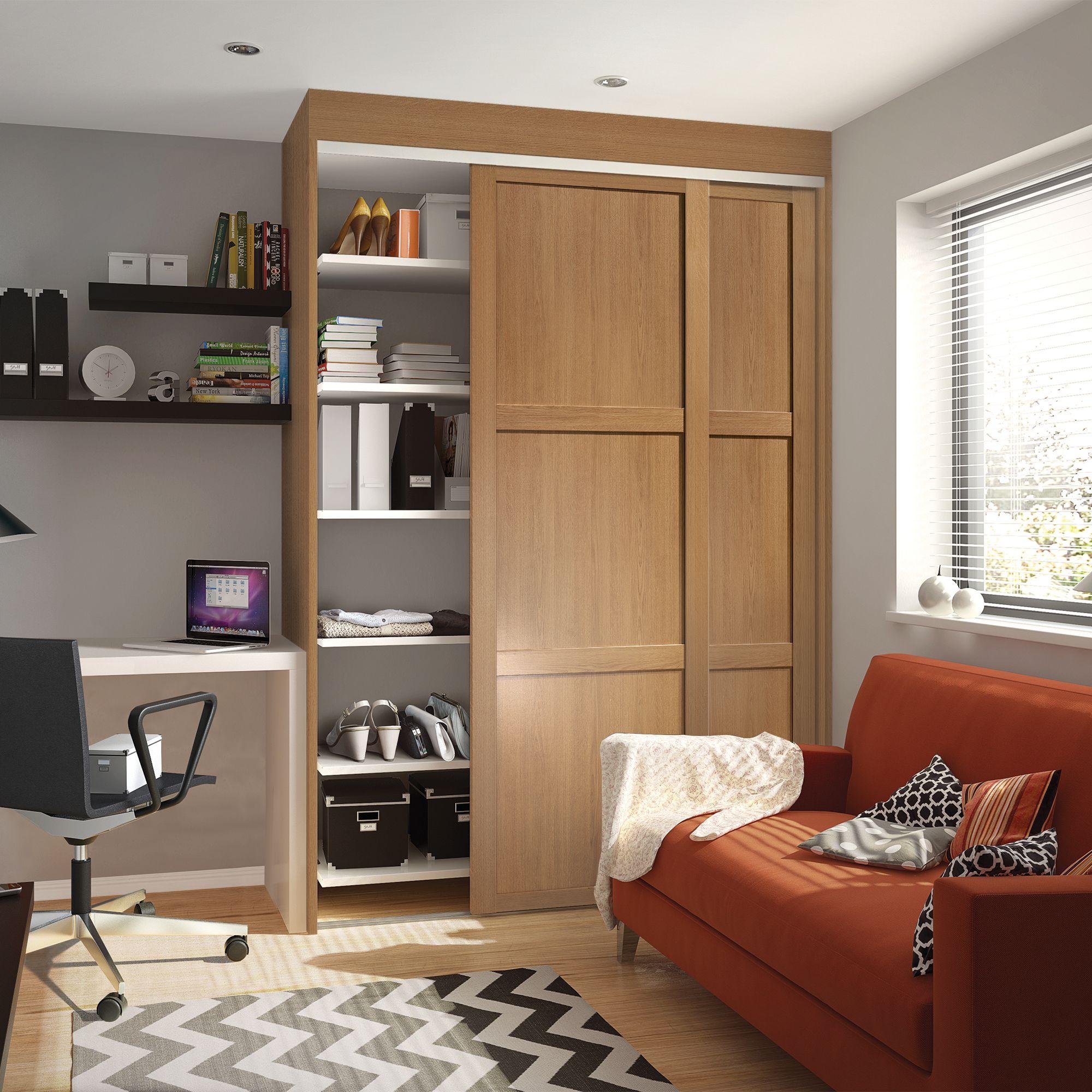 sliding wardrobe shaker single doors LILMJVW