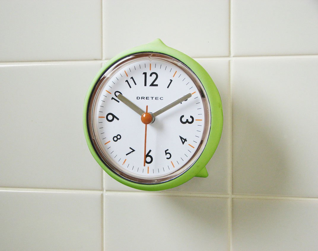 Clocks are a great way to improve the design of your Bathroom