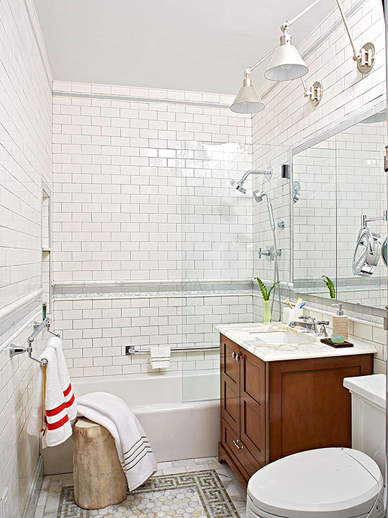 small bathroom design ideas use a soothing palette MAOCIYQ