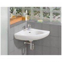 small bathroom sinks cheviot small wall mount corner bathroom sink - single faucet drilling NNOYCWR