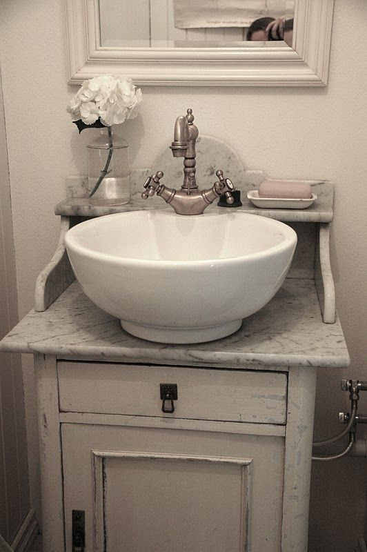 small bathroom sinks vintage shabby sink perfect for a half bath love the little shelf behind CVDQOVK