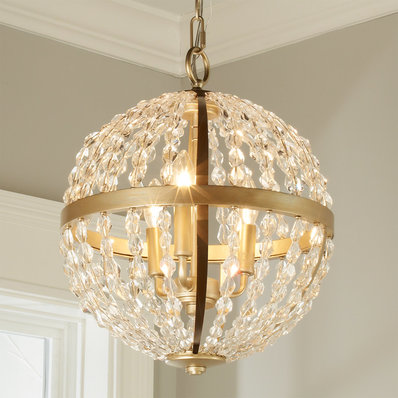 small chandeliers crystal and gold globe chandelier - small RKMPJMW