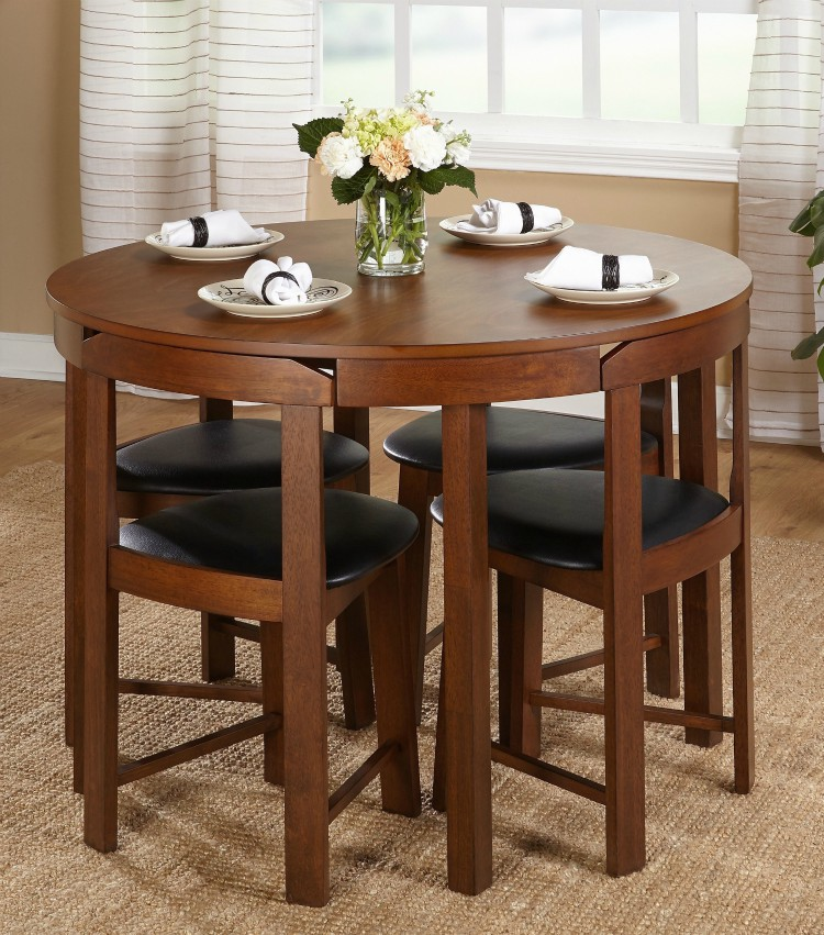 small dining table compact round dining set ($349.17). this 5-piece dining set offers a  stylish THYSREG