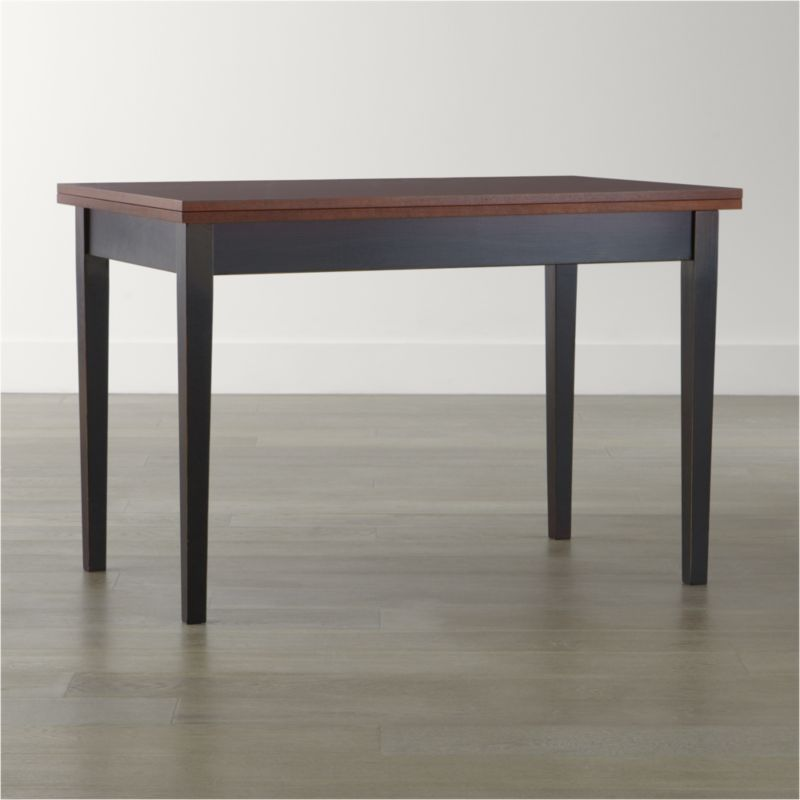 small dining table flip small bruno dining table | crate and barrel EILZVLU