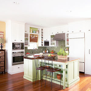 small kitchen color and smart space planning give this kitchen a sense of vibrancy and GUXSDZW