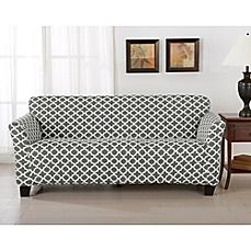 sofa cover image of great bay home brenna strapless sofa slipcover ANJFTJJ