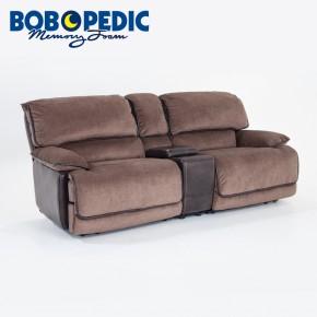 sofa recliner dawson dual power console loveseat ... PCPAHKE