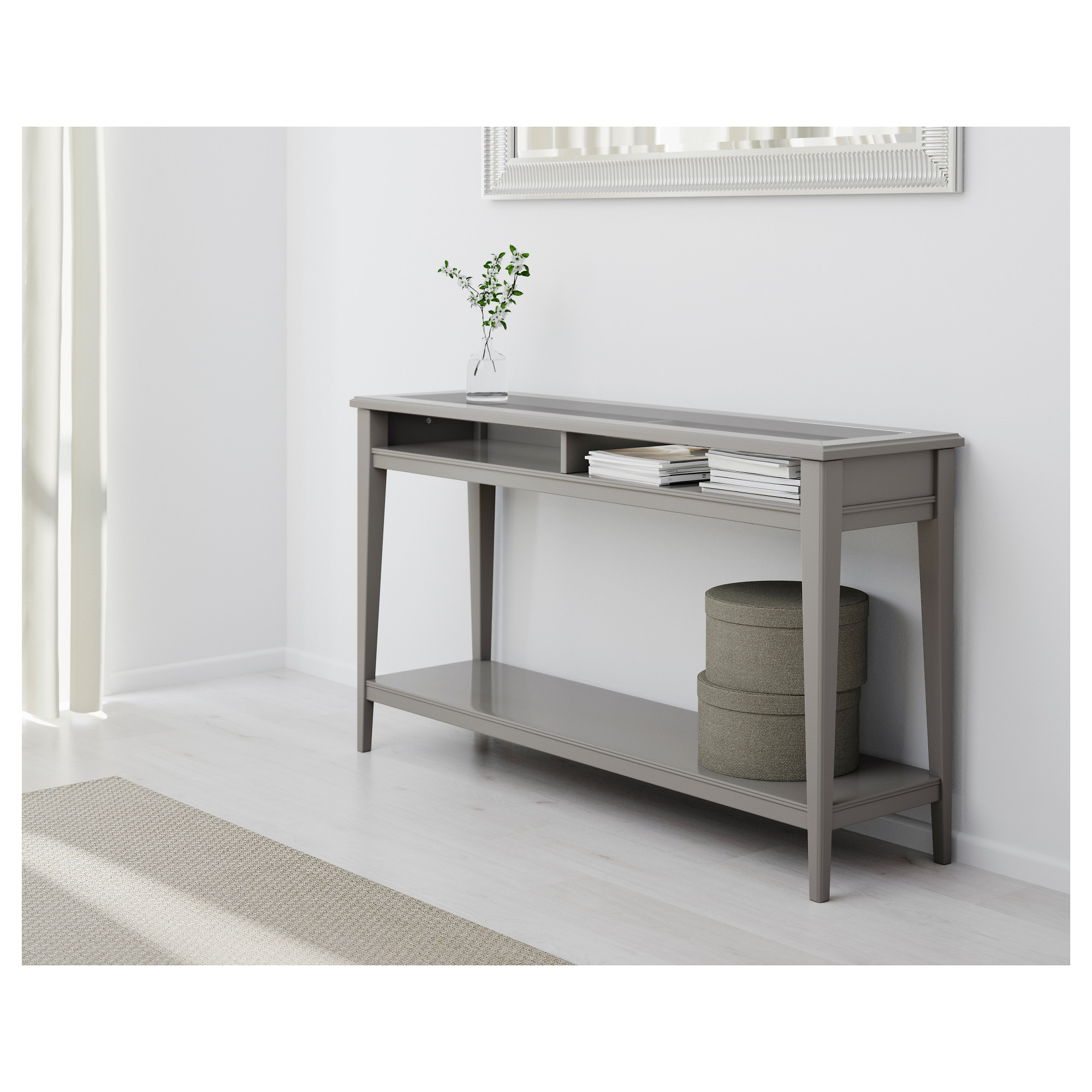 sofa table liatorp console table - white/glass - ikea KGIDRHR