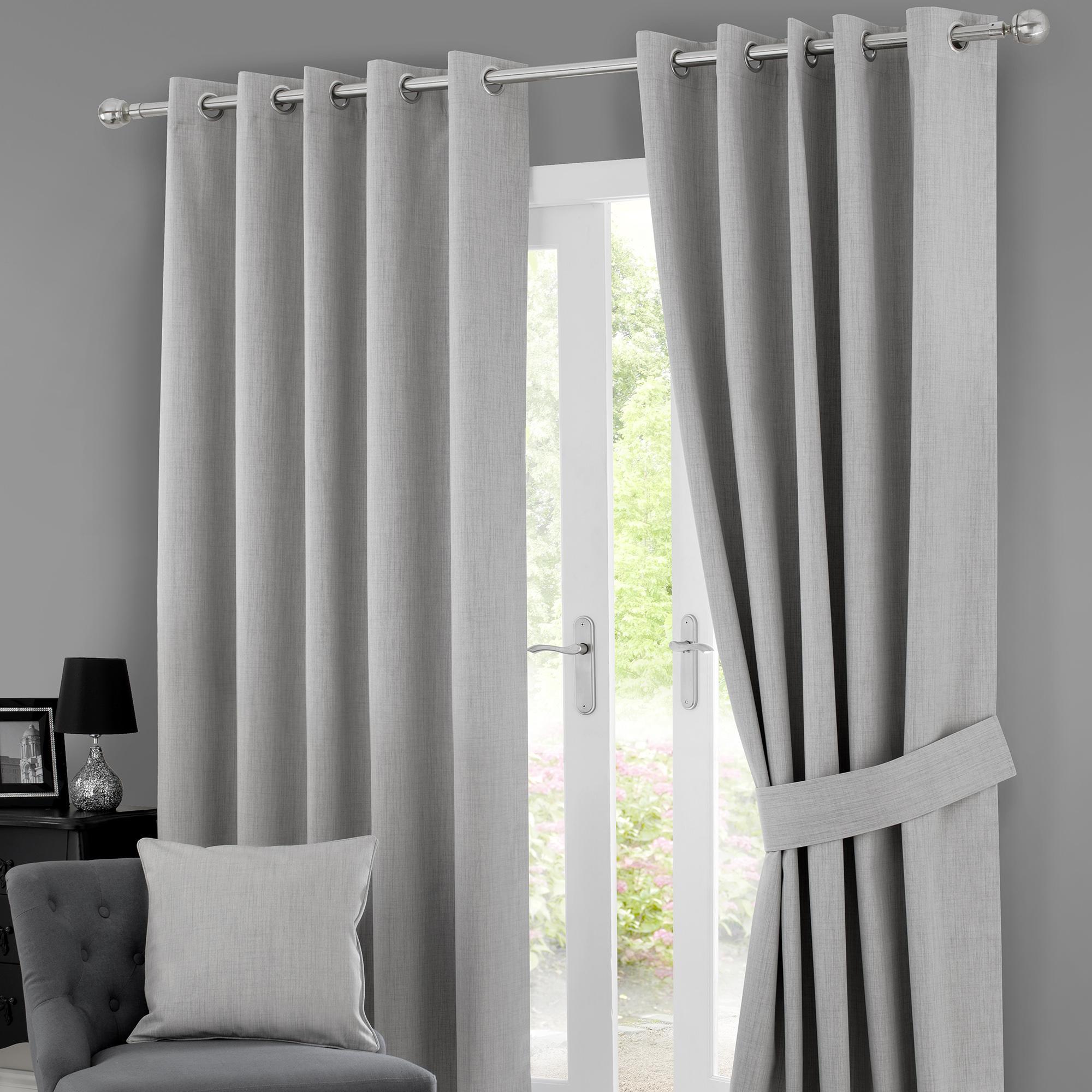 solar grey blackout eyelet curtains STKHWFO